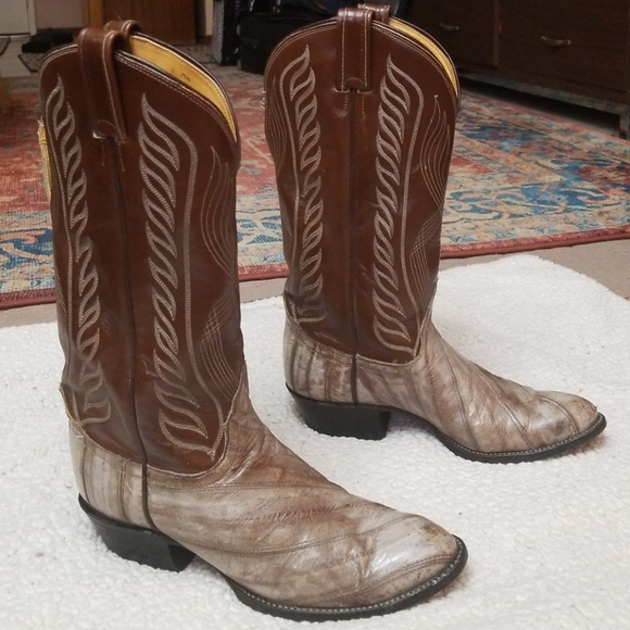 0cbac197241 Men's Tony Lama Boots Eel Skin